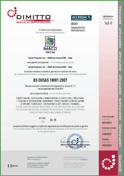 certificazione180012007